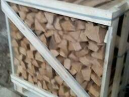 Split firewood technologically desiccated in boxes. - фото 2