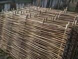 Забор деревянный с орешника - фото 1