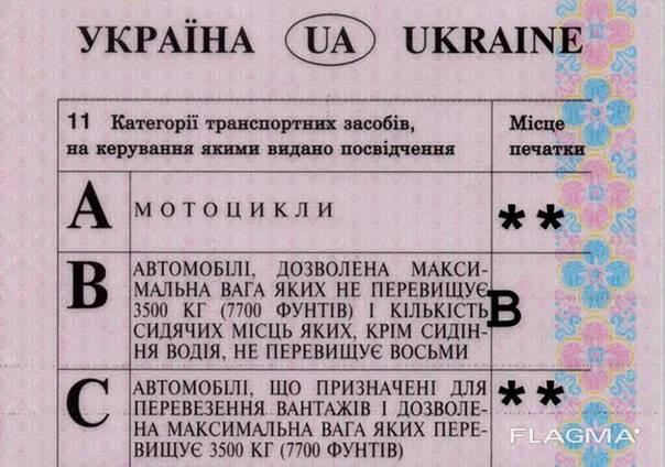 Конвертация украинских водительских прав на итальянские.