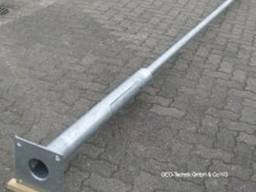 Pali per illuminazione stradale in metallo zincato