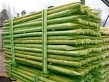Rounded pine pillars, fences, palisades - photo 2