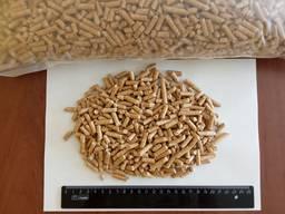 Wood fuel pellets, 6 mm
